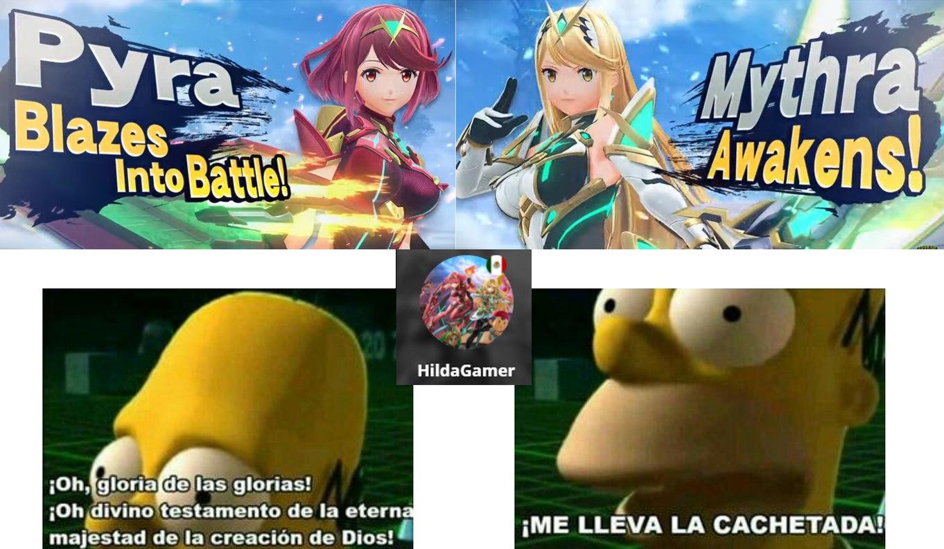 Yo Cuando Vi Que Pyra Y Mythra Se Unieron A Smash Bros Ultimate - meme