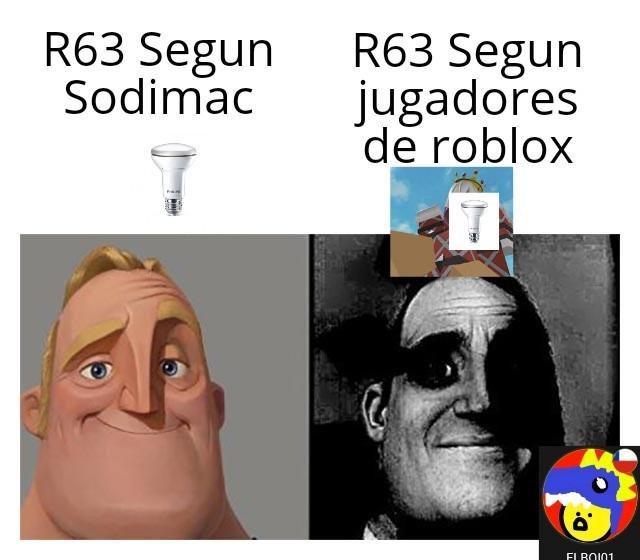 Contexto:La r63 son modelos para personajes de juegos de roblox, pero la mayoria hace porno con eso al punto de buscar r63 en google y que salga porno de roblox - meme