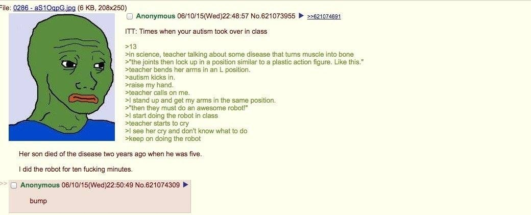 Anon does the robot - meme