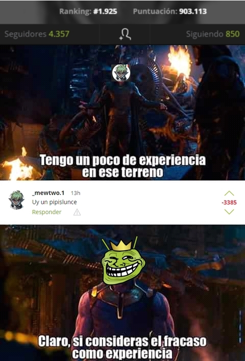 El Hombre Negativos - meme