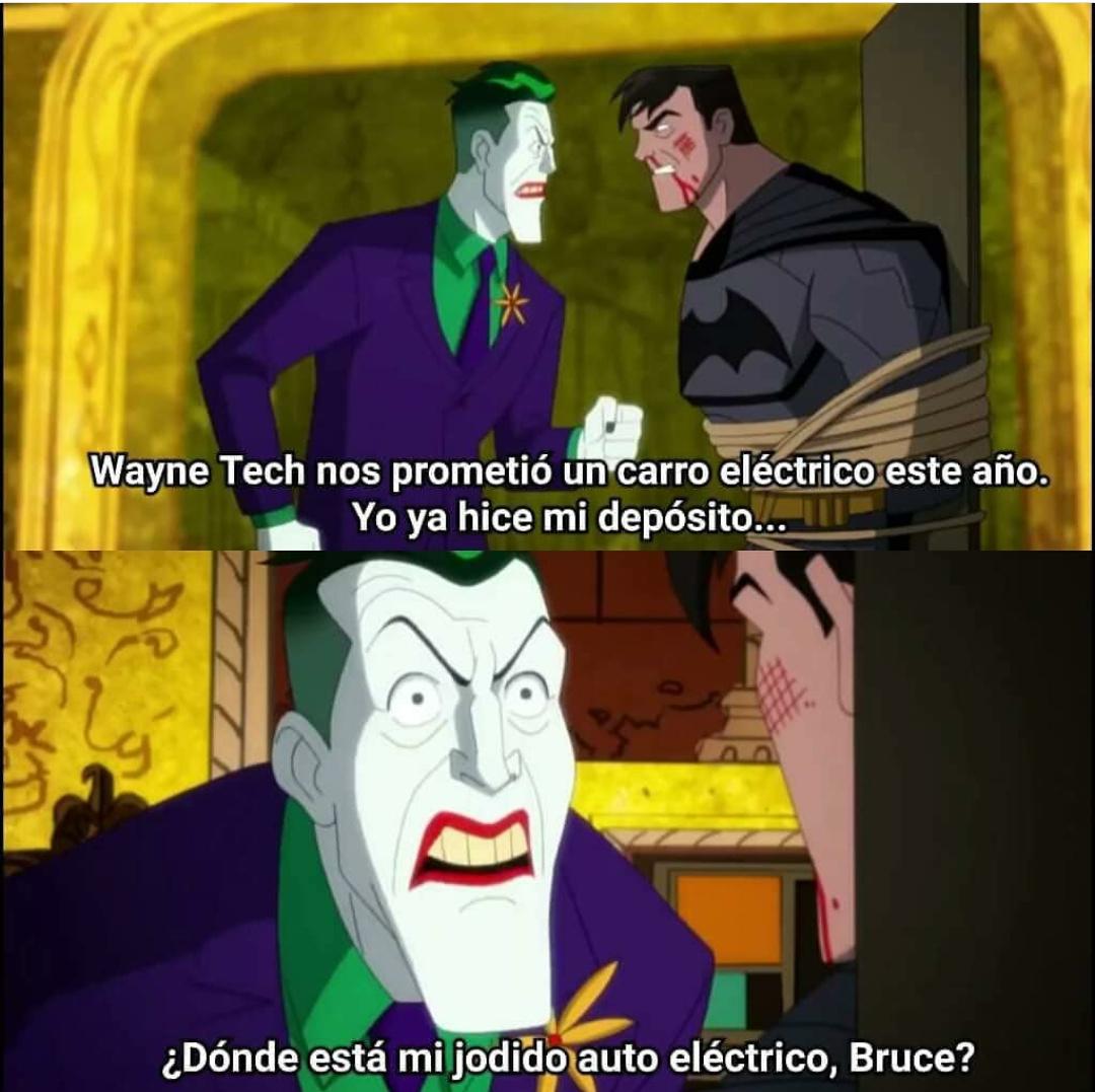 Bruce Bane más vende humo que tesla - meme