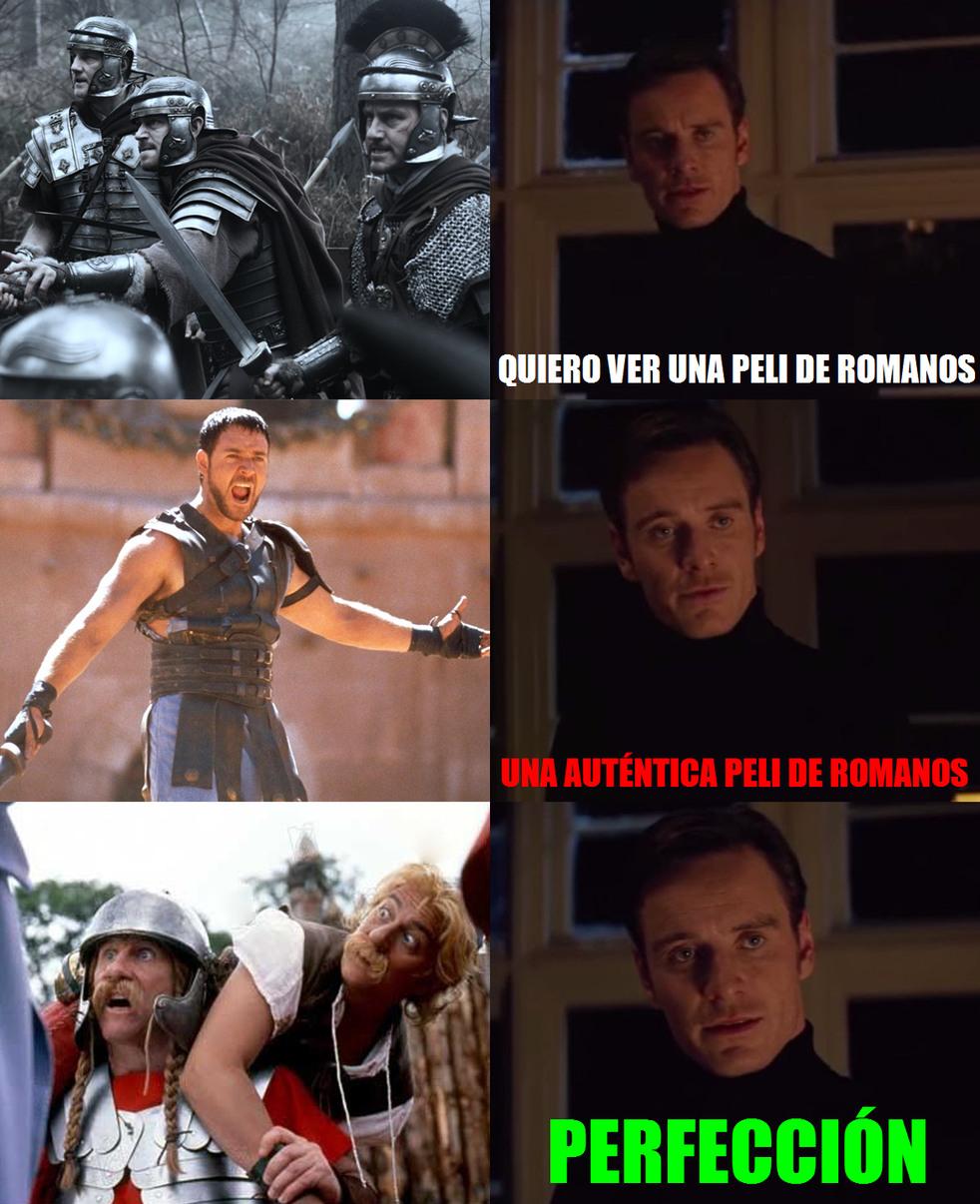 Una verdadera peli de romanos - meme