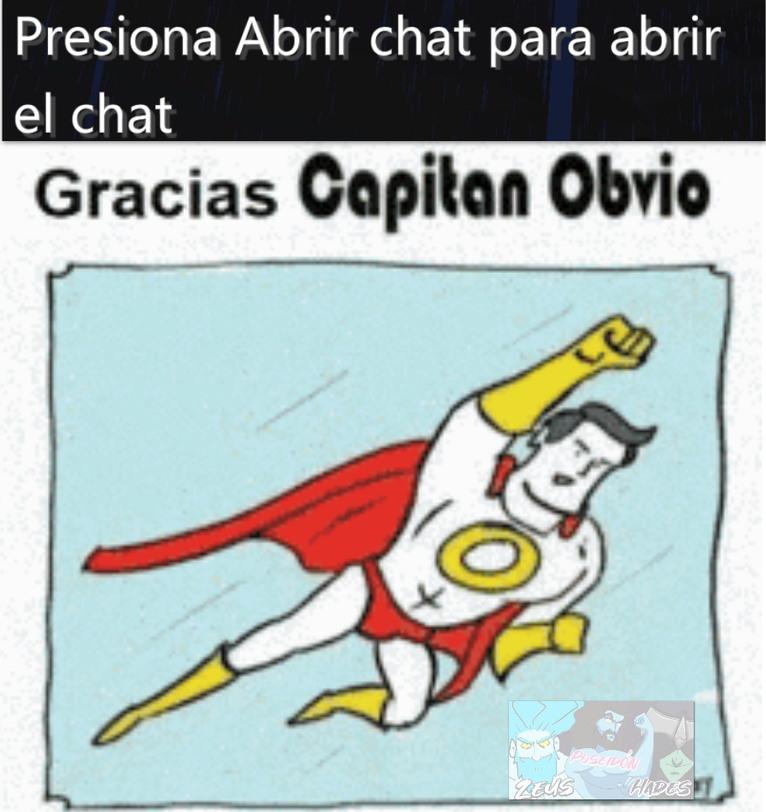 Gracias capitán obvio - meme