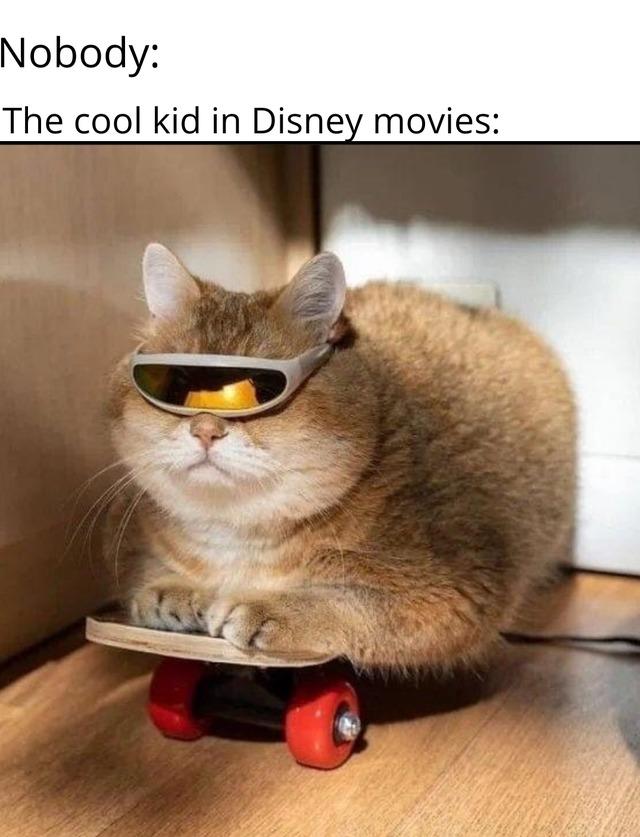 The cool kid in Disney movies - meme