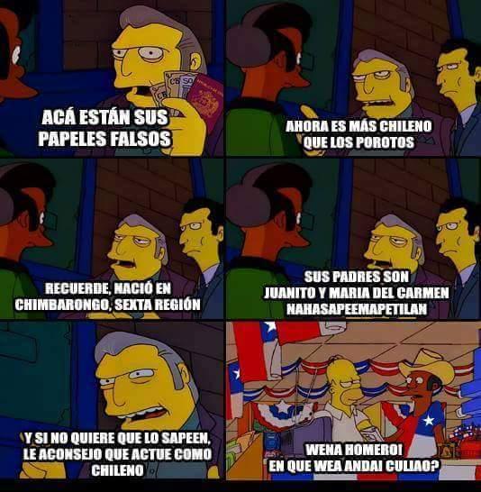 Mas chileno que los porotos - meme