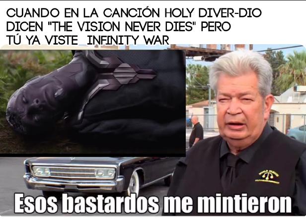 The vision never dies= La visión nunca muere - meme