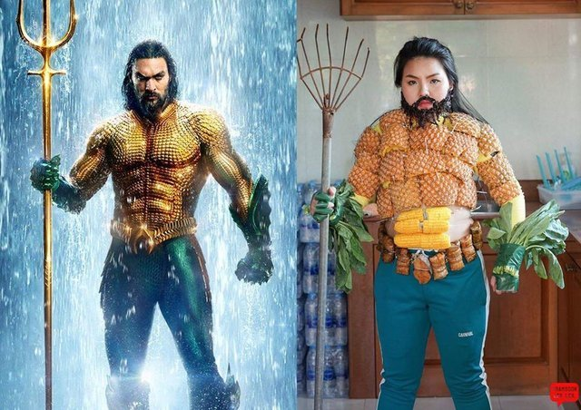 Perfect Aquaman cosplay - meme