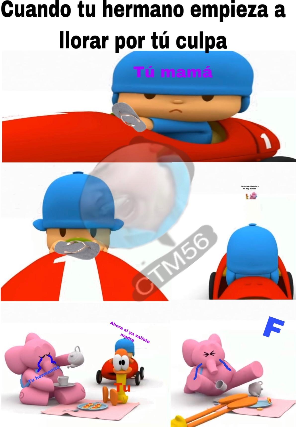 f por mi hermano - meme