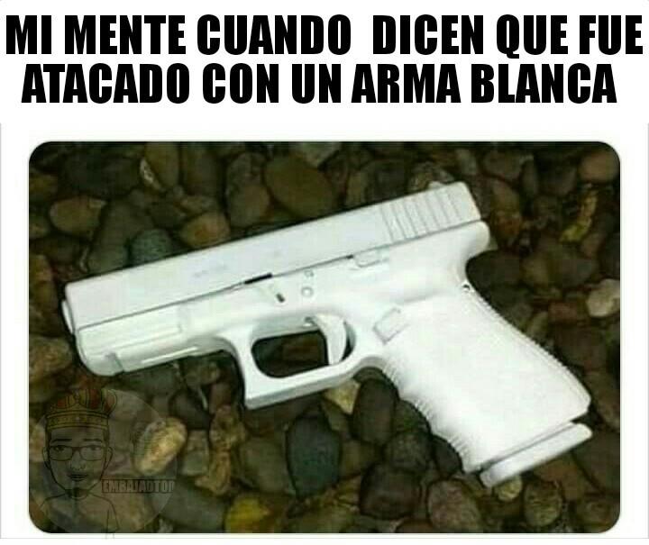 Ja el arma perfecta para asesinar negros - meme