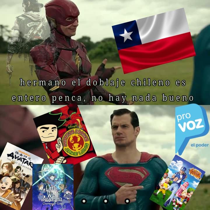 Doblaje Argentino :zoomer: || doblaje chileno y mexicano :Chad: - meme