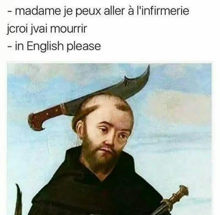 Les prof d'anglais - meme