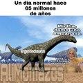El argentinosaurus comprando empanadas a mirtha