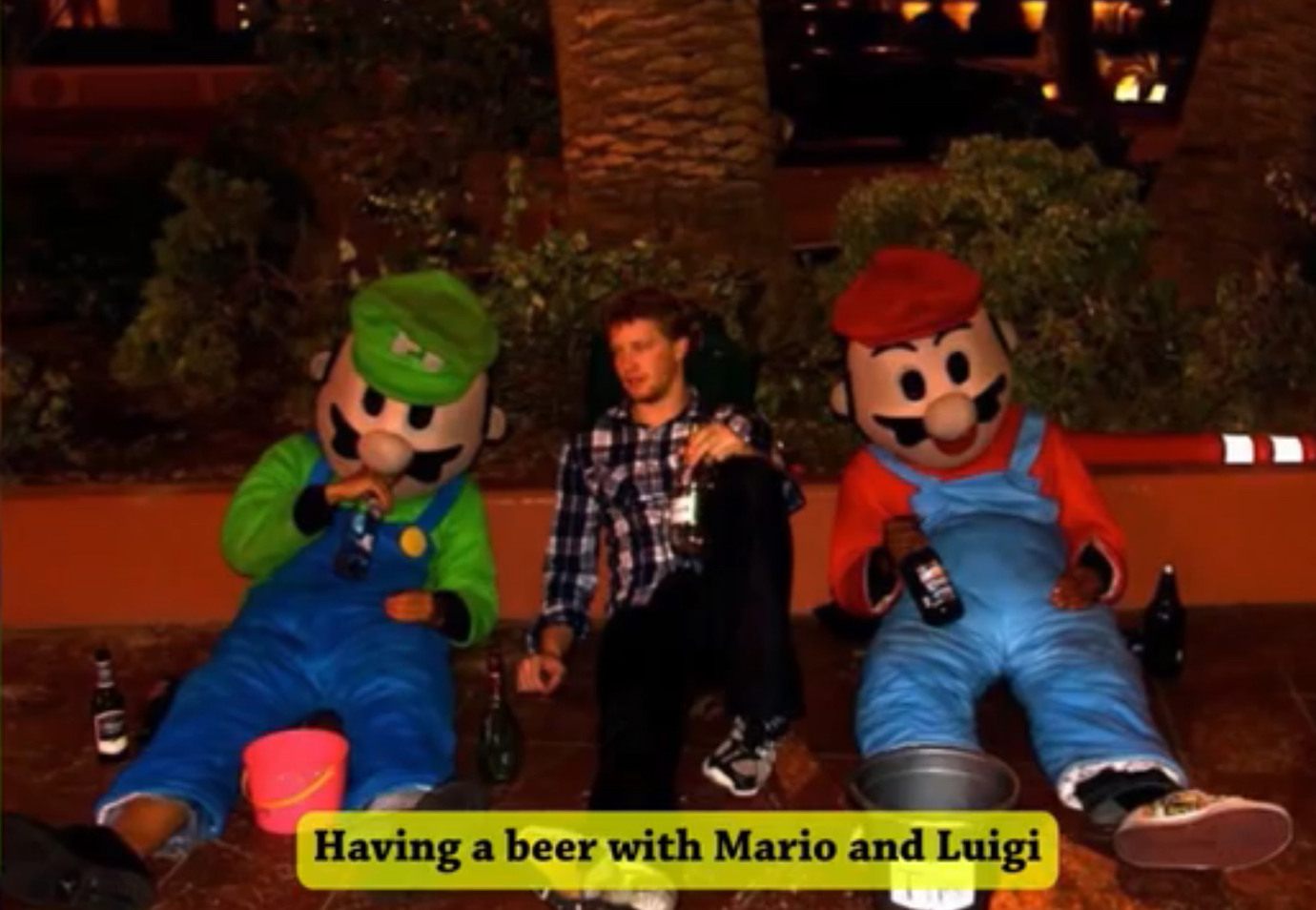 Mario and Luigi gave up. - meme