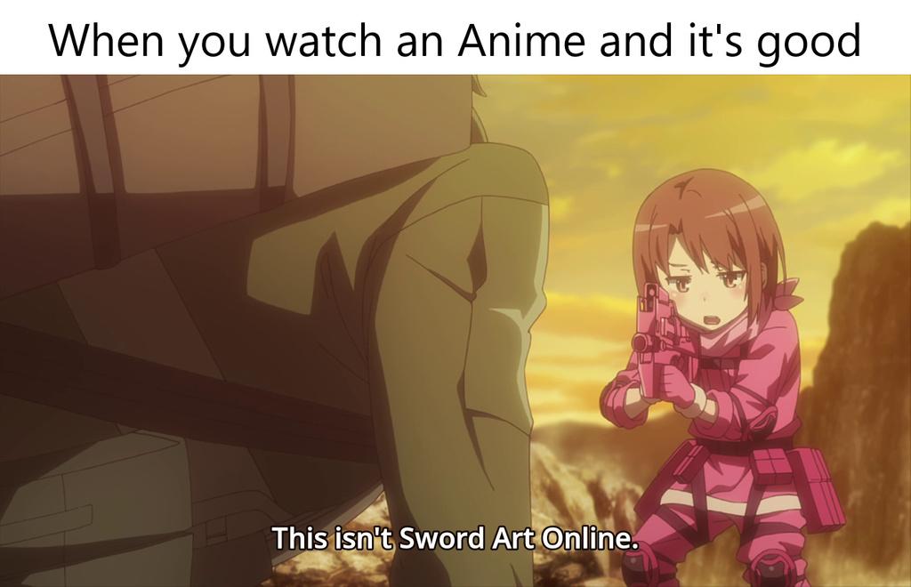 Sword art is okayish - meme