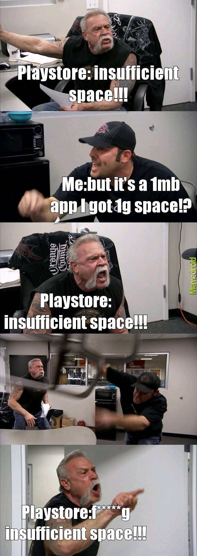 Insufficient space - meme
