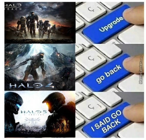 Destiny sucks. Come back to Halo, Bungie. - meme