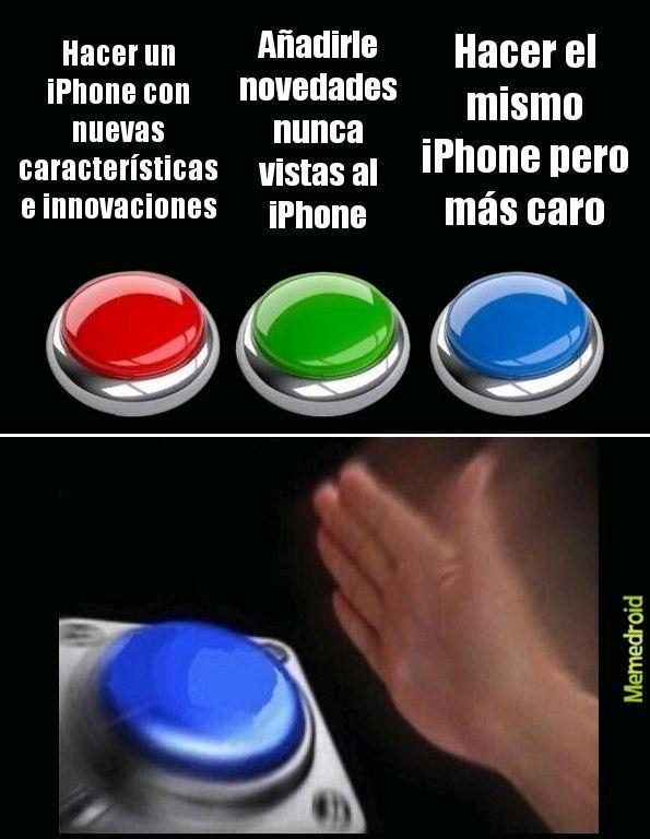 Lo que Apple está haciendo en este momento - meme