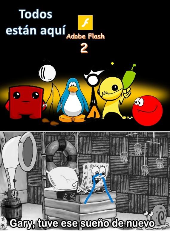 Flash player 2 xd xd xd xd - meme