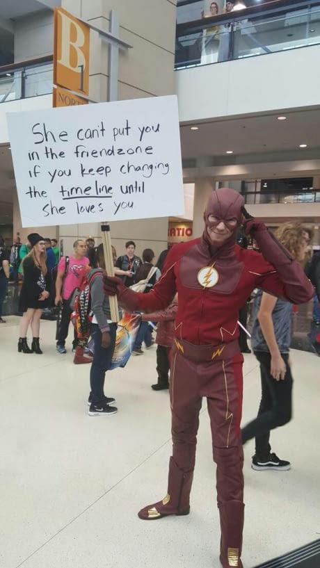 How the Flash escapes the friendzone - meme