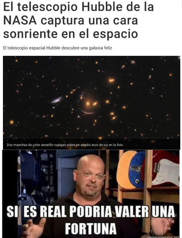 Ahí dice que fue la NASA pero fui yo - meme