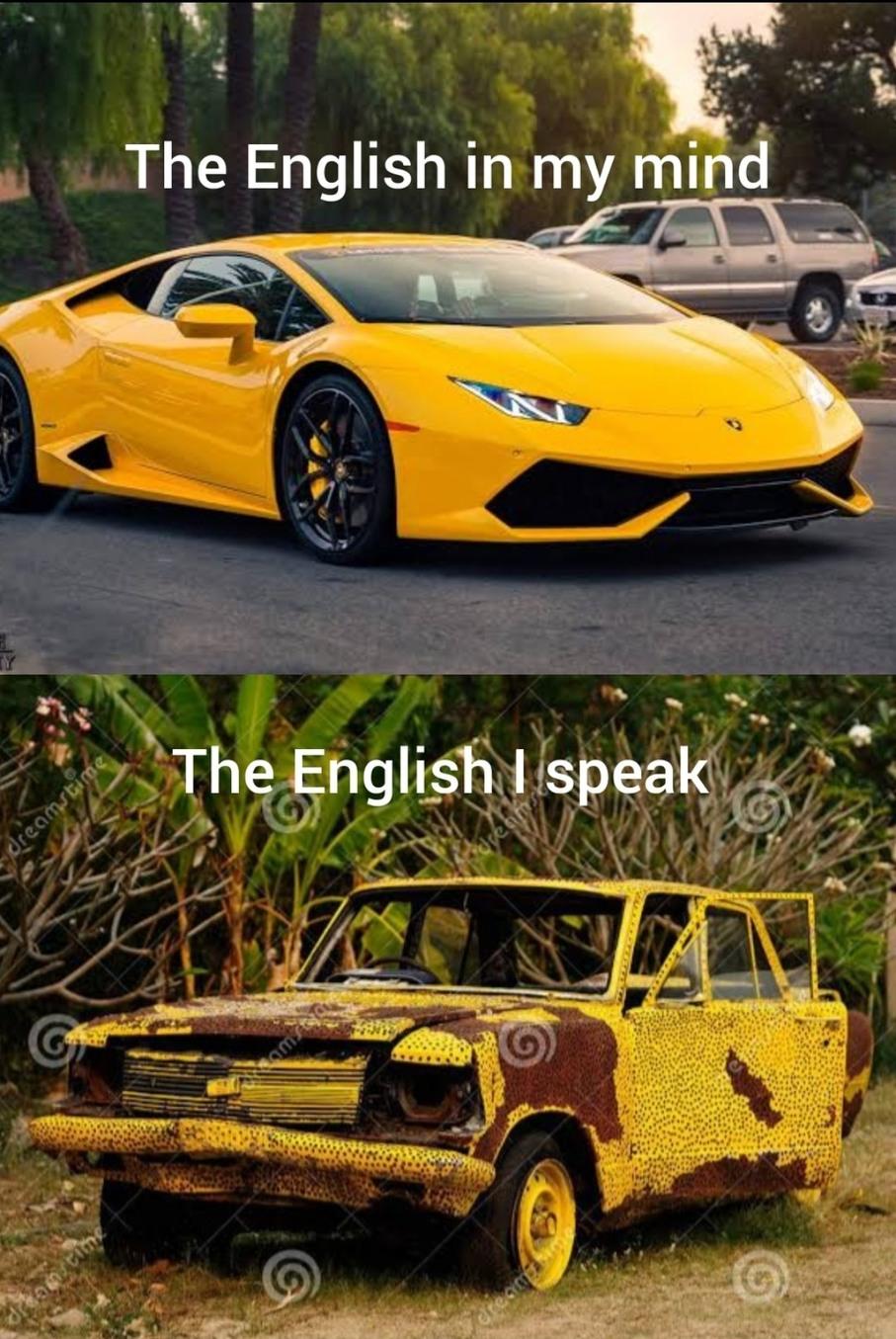 Moi pendant l'oral d'anglais - meme