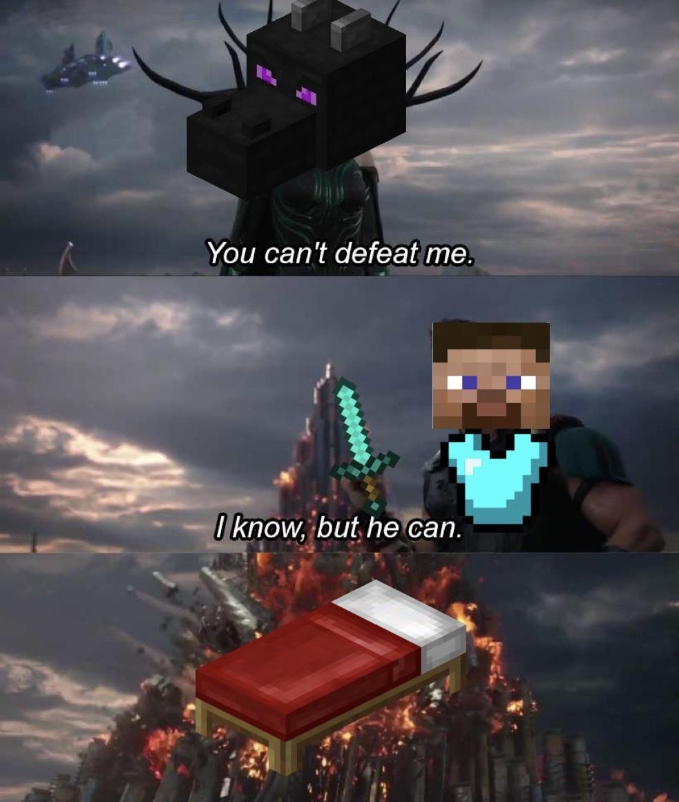 Bed: Destroyer of Worlds - meme