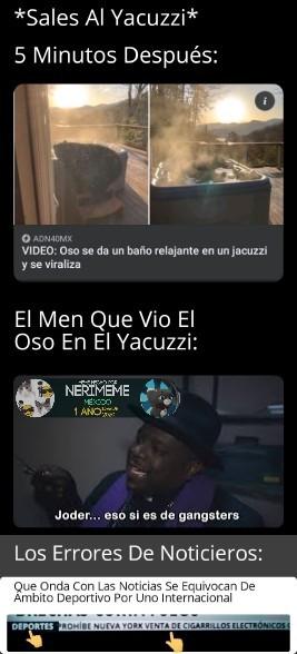 Meme: Osos Yacuzzi