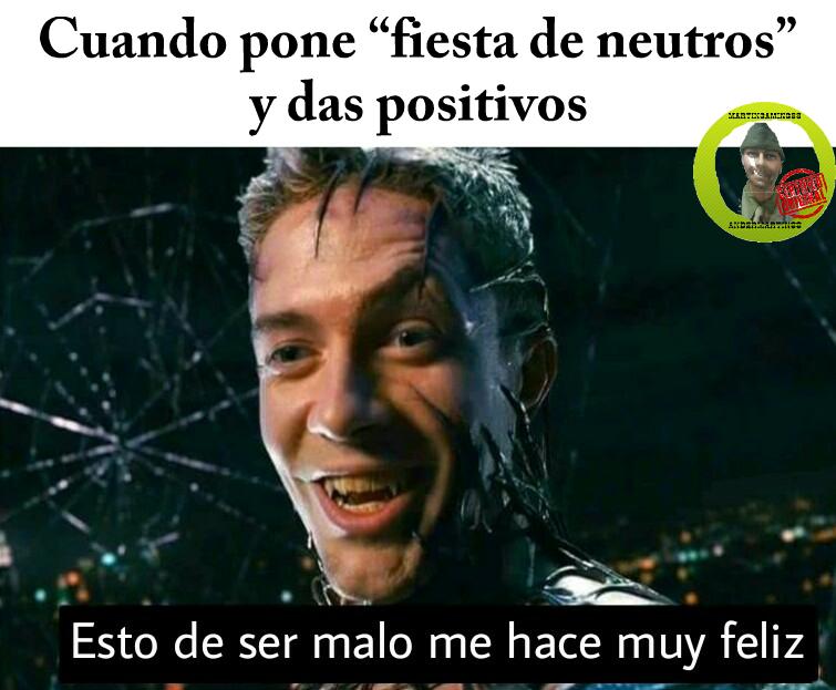 Fiesta de 8 positivos!!! - meme