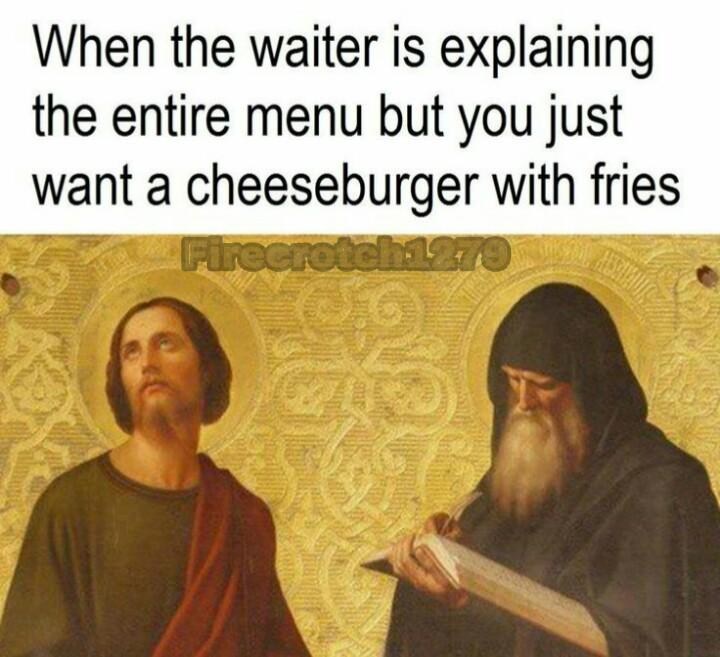 Gimme a damn burger - meme