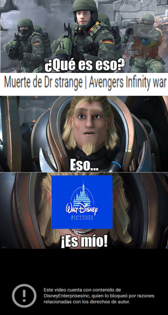 Disney controla todo - meme