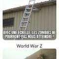 C'est facile de survivre dans the Walking Dead, pas dans World War Z...