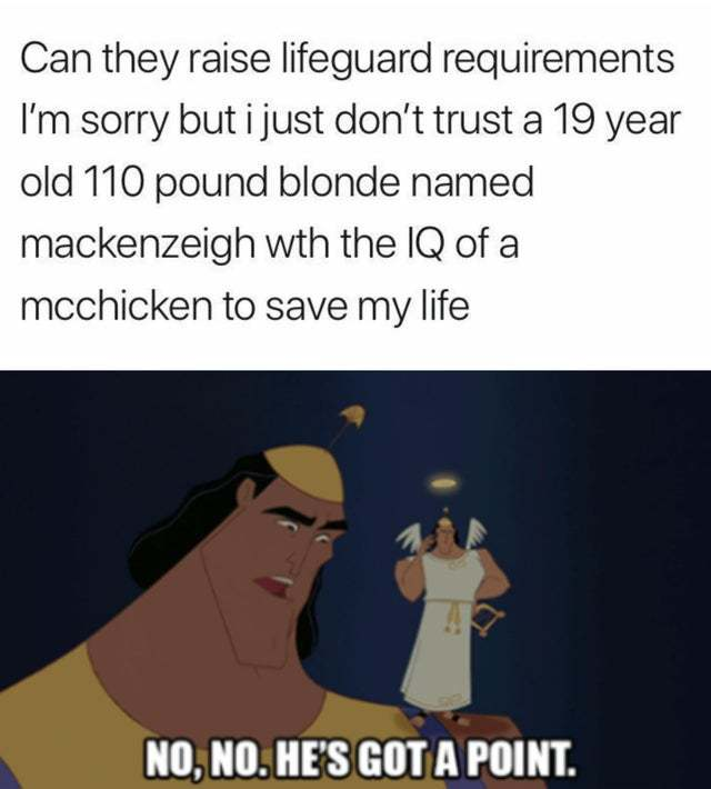 Can they raise lifeguard requirements? - meme