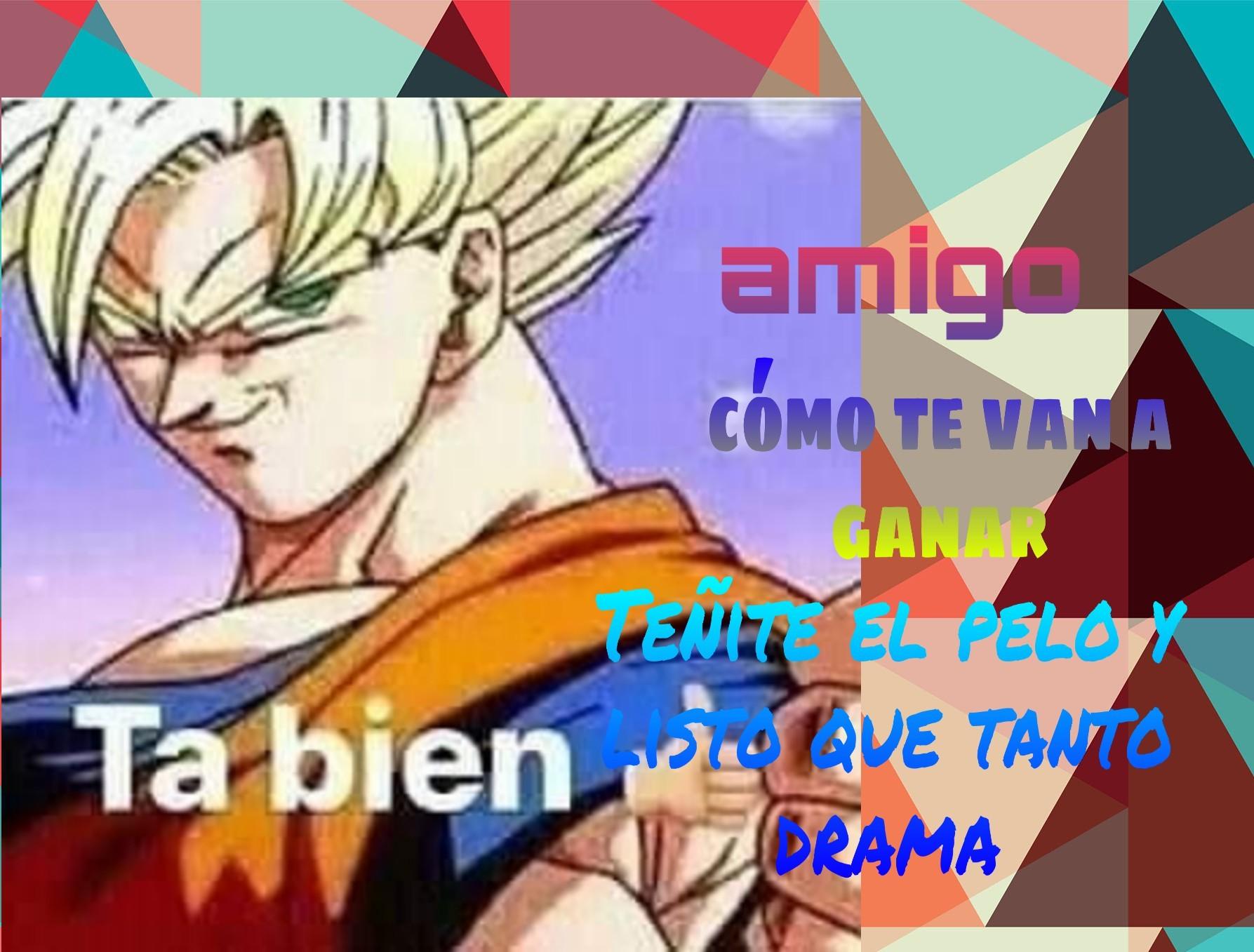 Que listo que sos Goku - meme