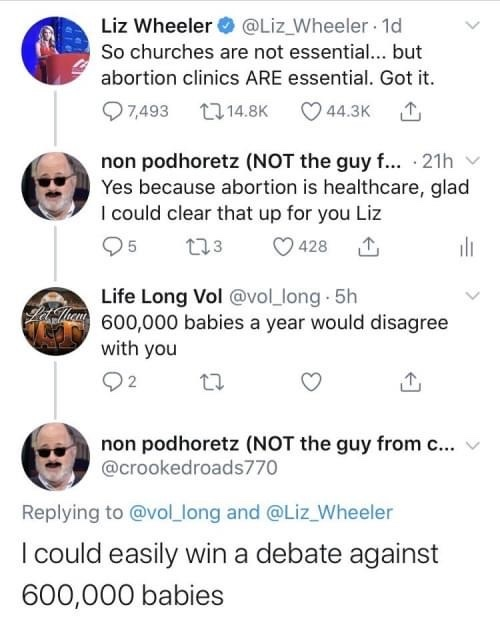 Babies can't debate if they're dead. - meme