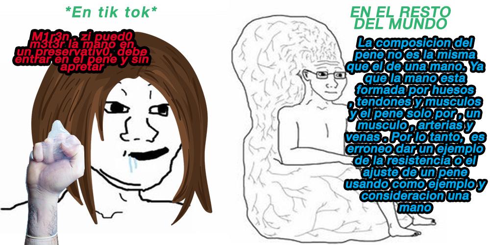 ultimamente se volvio bastante comun que una tonta que nunca ha visto un pene y tampoco sabe lo que es, suba un video de estos - meme