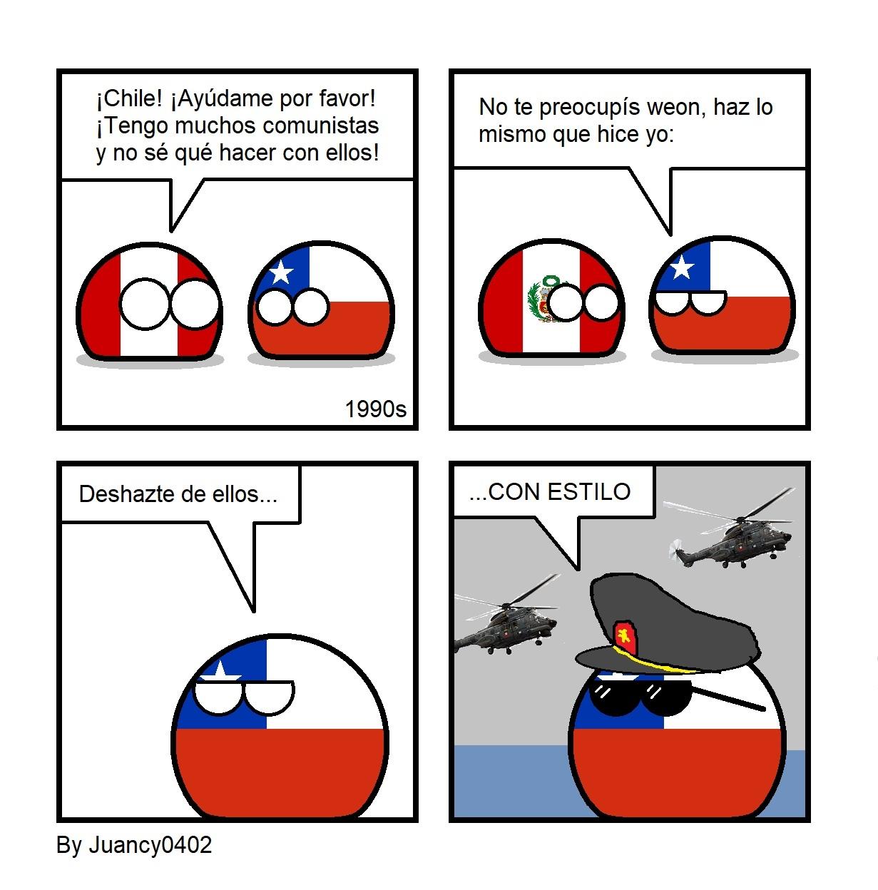 Si tienes problemas de comunismo, llama a Chile - meme