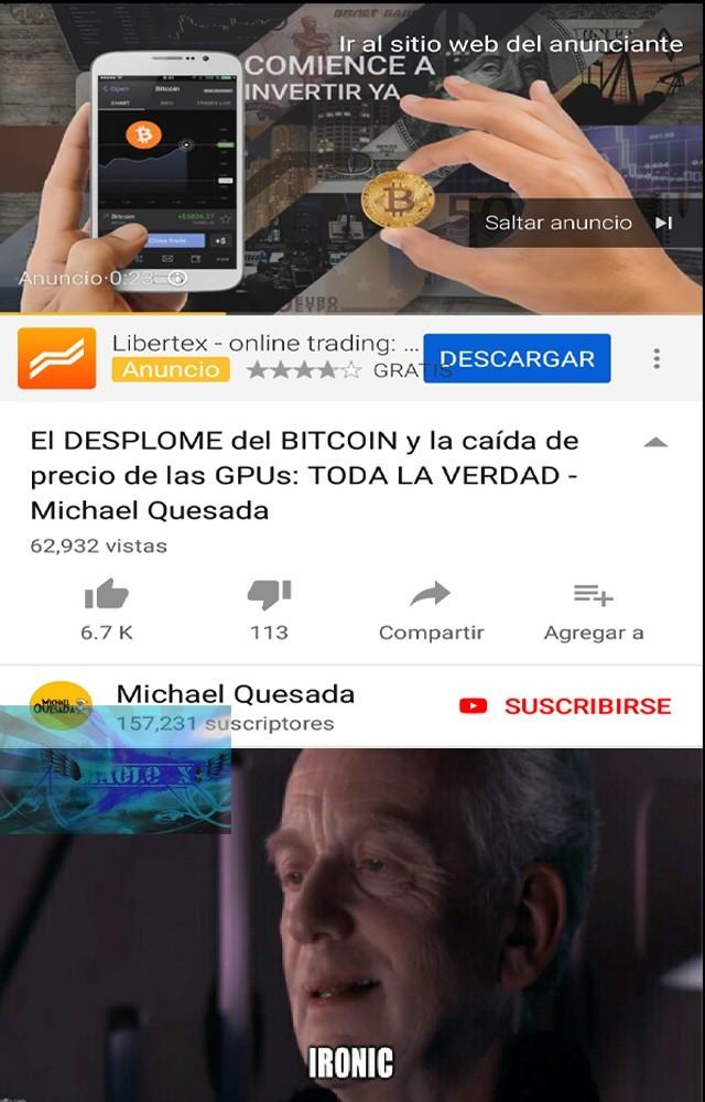 El titulo compro Bitcoins y murio - meme