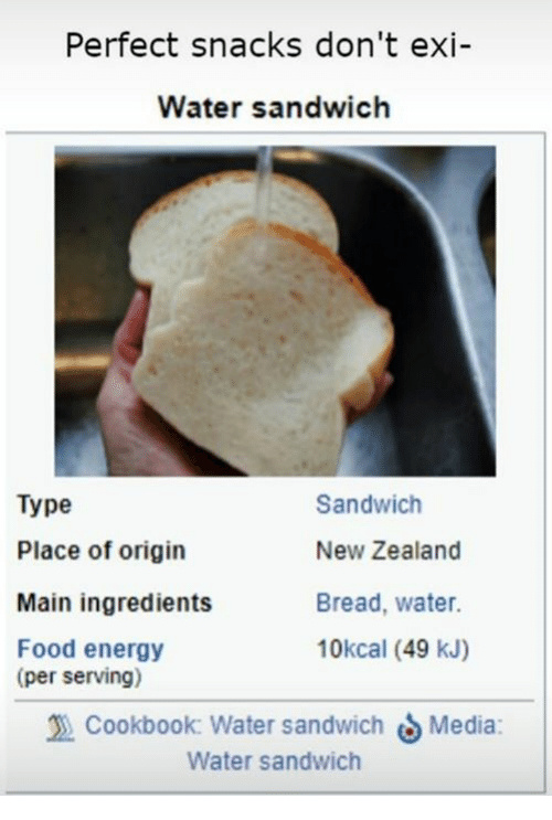 Water bread - meme