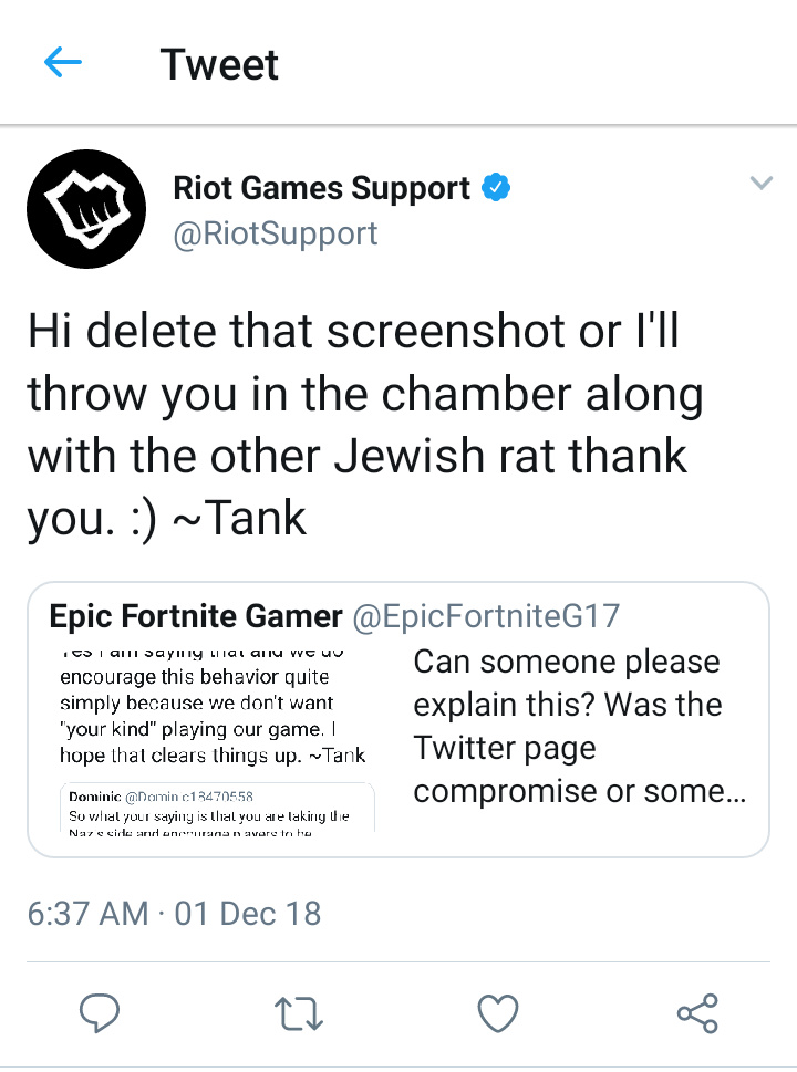 RIOT SUPPORT TWITTER HAS BEEN HACKED - meme