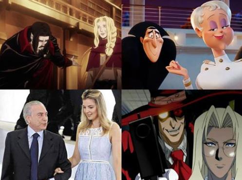 Cada Vampiro tem sua loira - meme