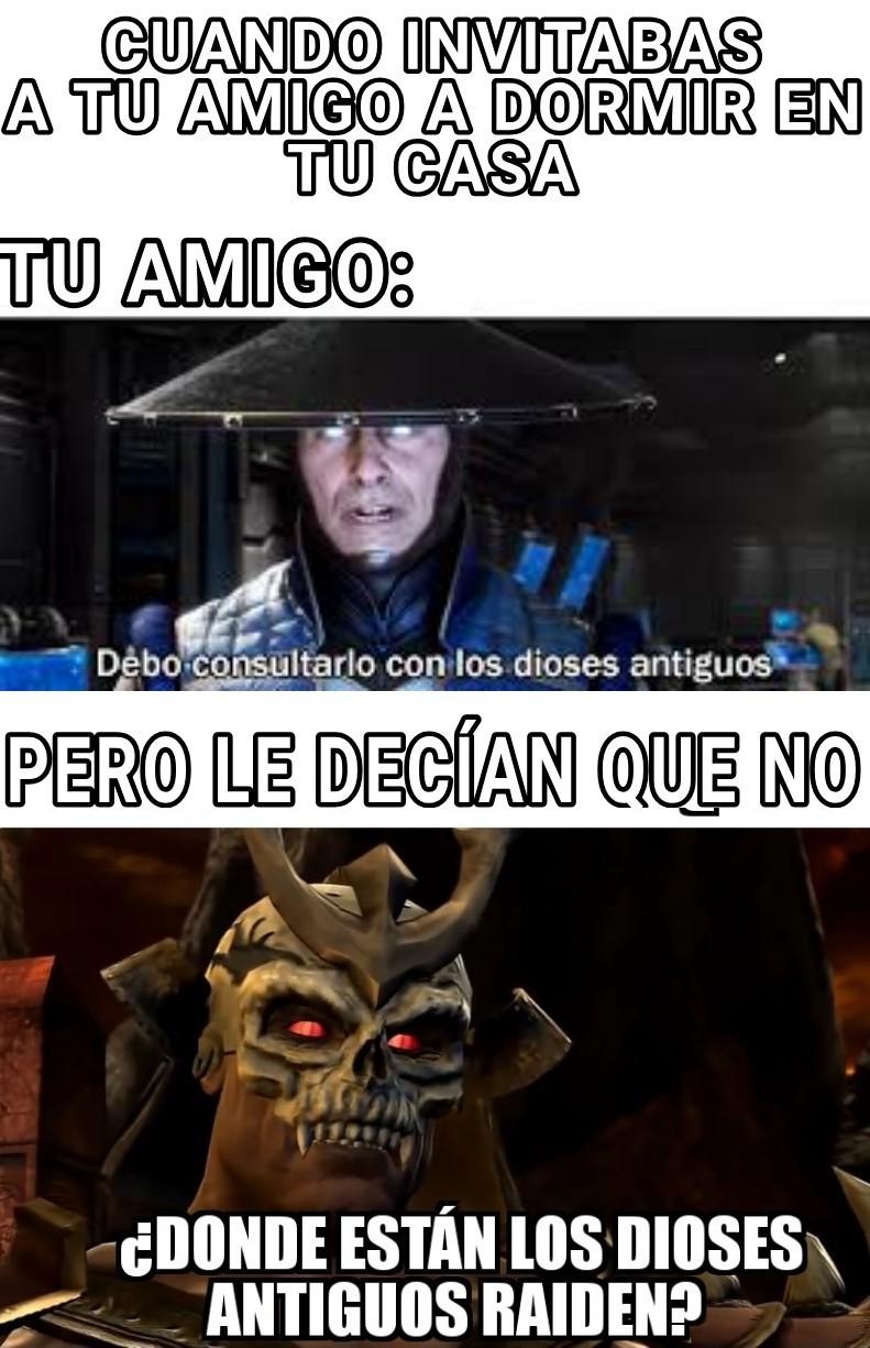 Raiden Y Los Dioses - meme