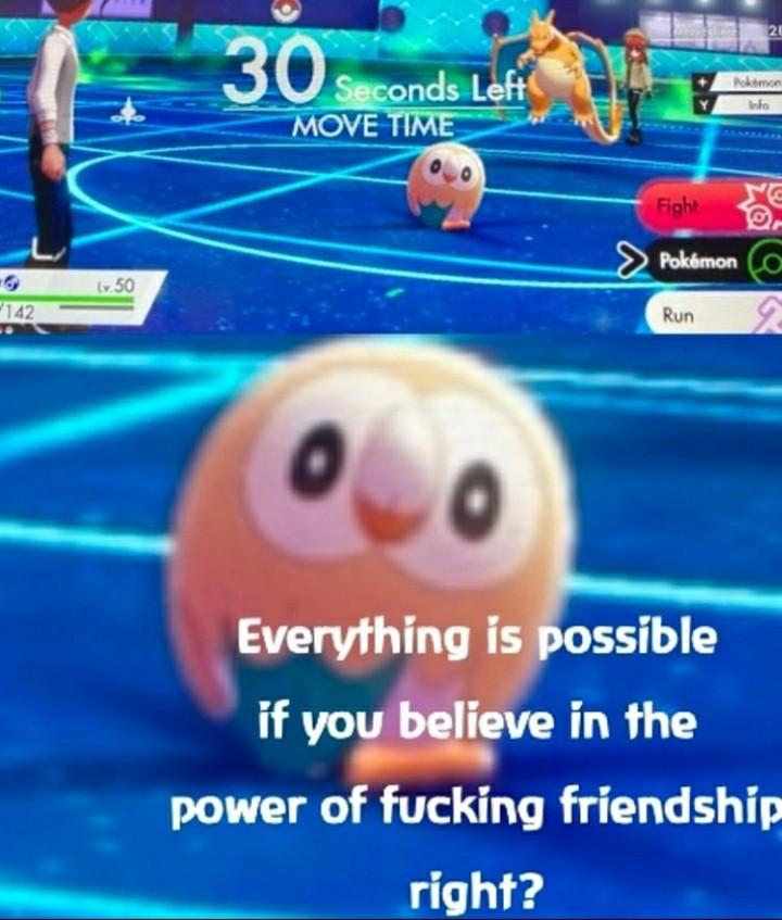 Poder da amizade - meme