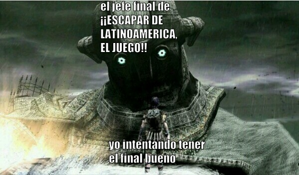 Escapar de latinoamerica - meme