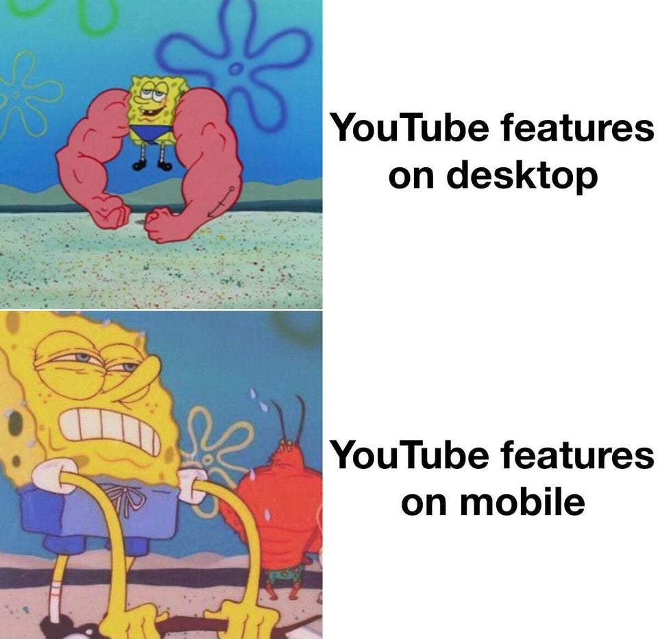 youtube is a ploopy rn - meme