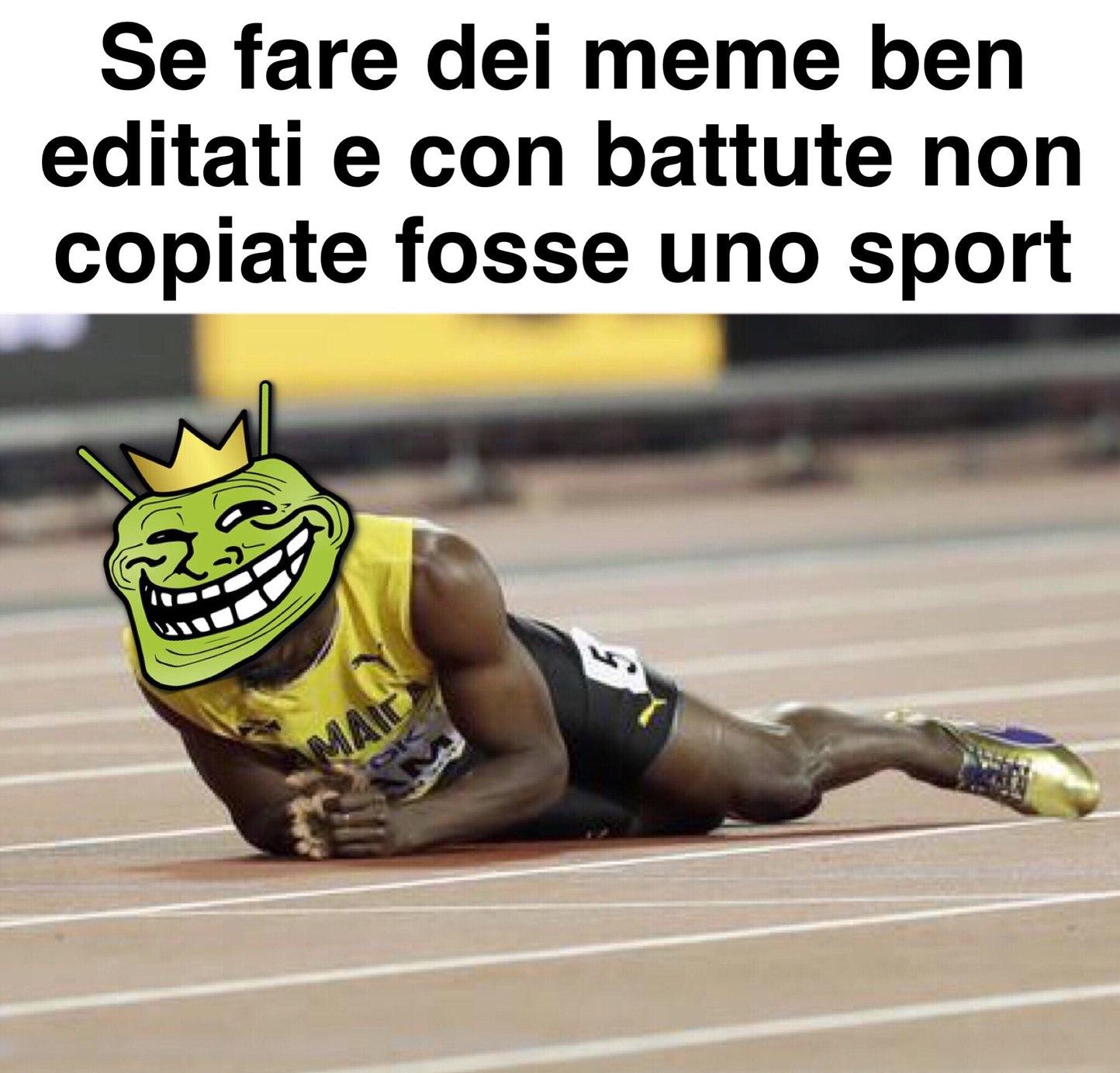 Usain Bolt *Lacrimuccia* - meme