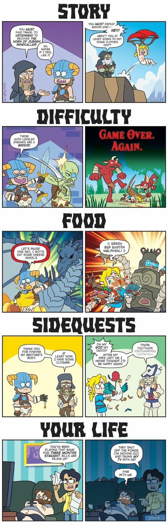 Zelda vs Skyrim ! - meme