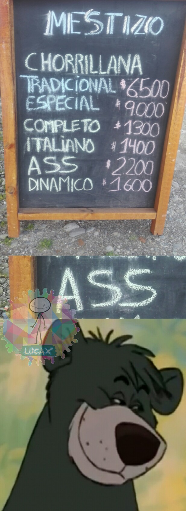 Ass = Culo - meme