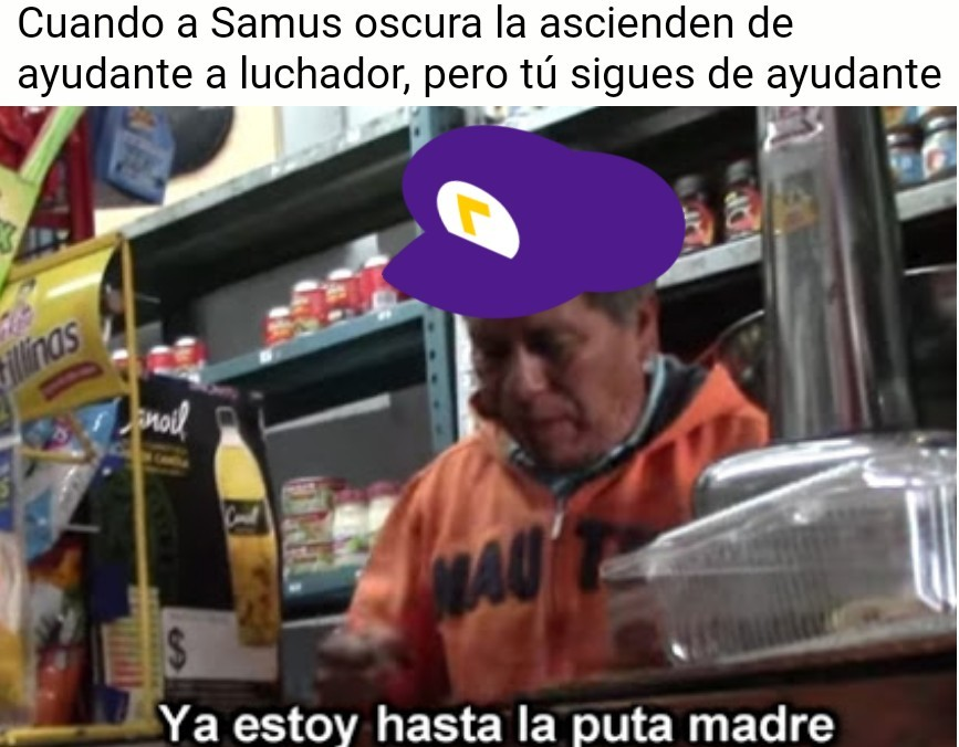 Waluigi en Smash - meme