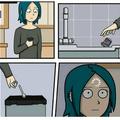 Insérer la cuillère