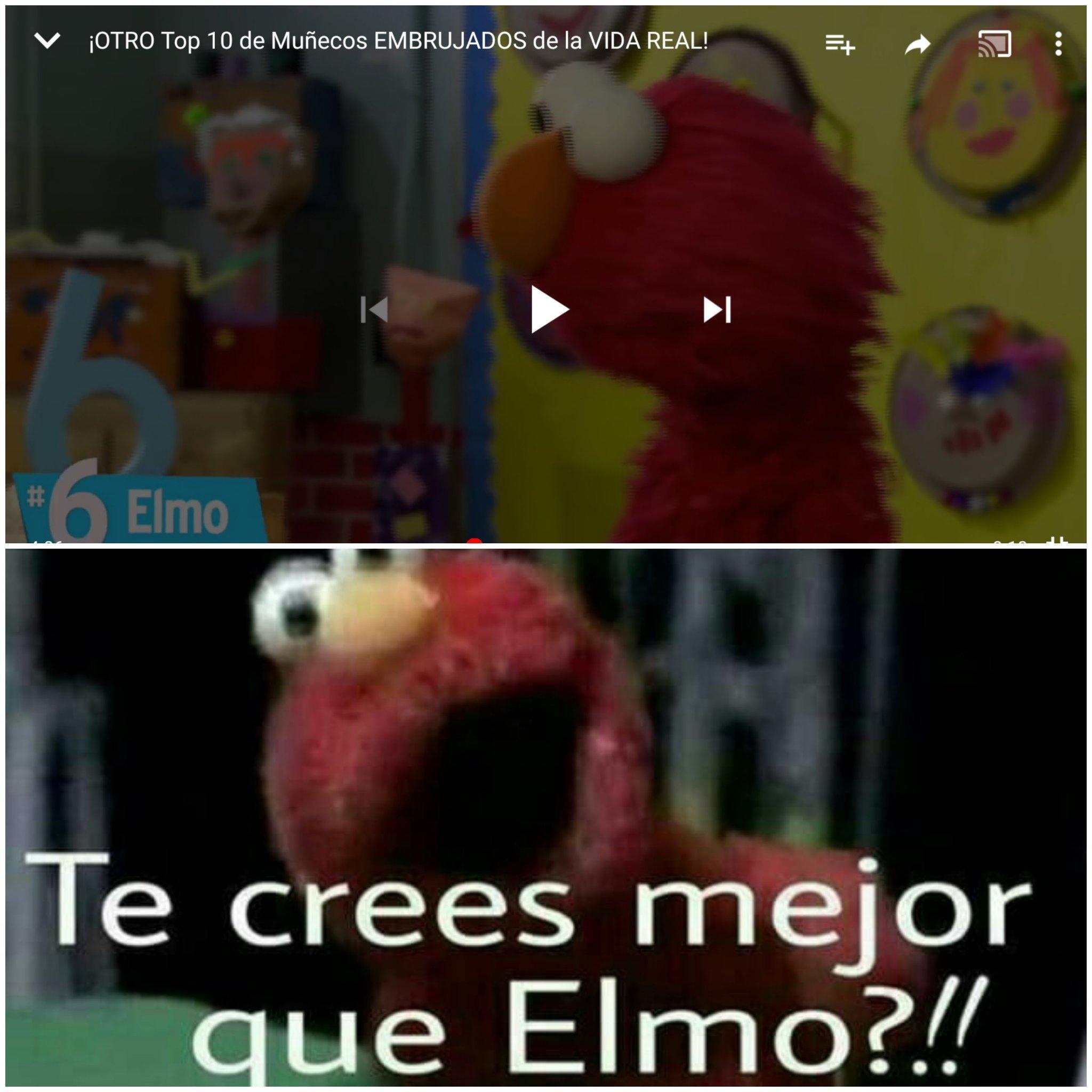 Elmo+mazo=muñeco maldito - meme
